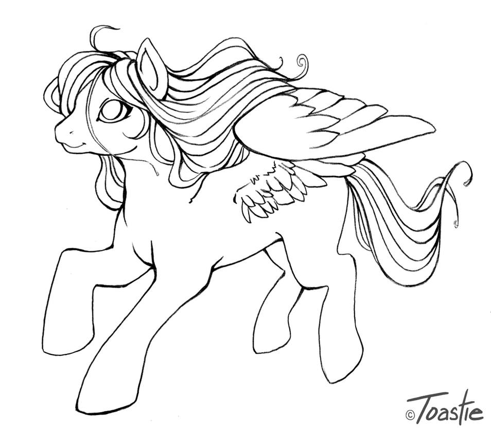 Mlp color me pegasus by toastytoastie on deviantart for Coloring pages of pegasus