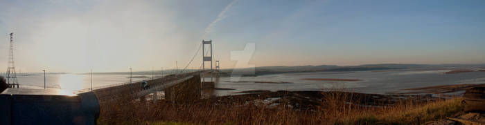 Severn Bridge Panorama by KateJones92
