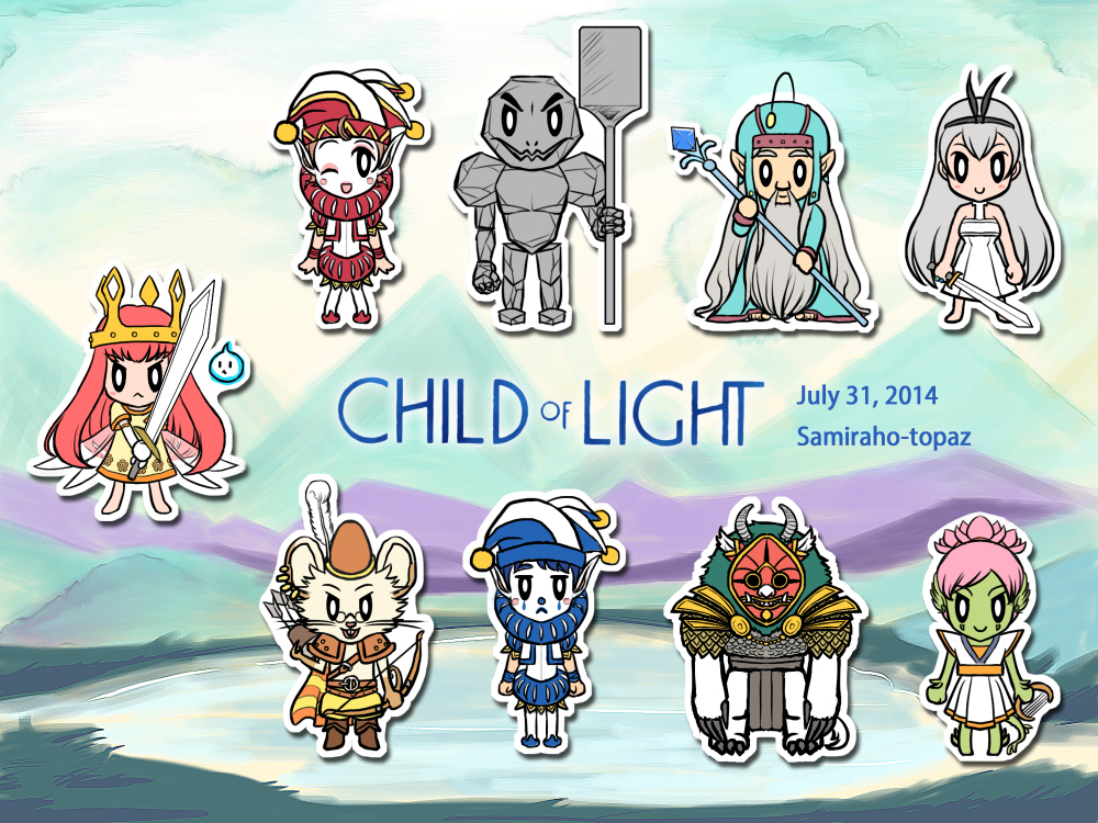 Child Of Light Party Members By Samiraho Topaz On Deviantart