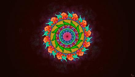Mandala Art - Desktop Wallpaper by firefighters