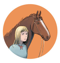 Girl and horse by Bagini