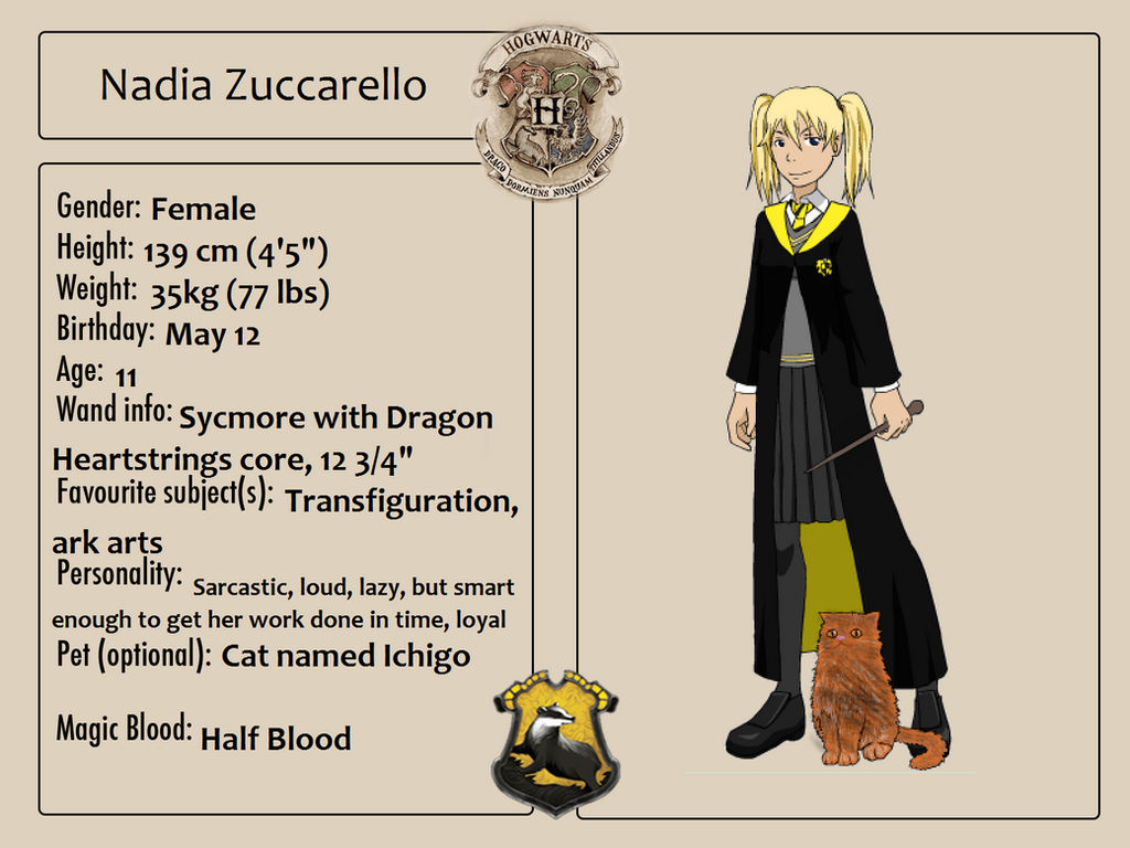Nadia's Hogwarts Application by Pack69Alpha on DeviantArt