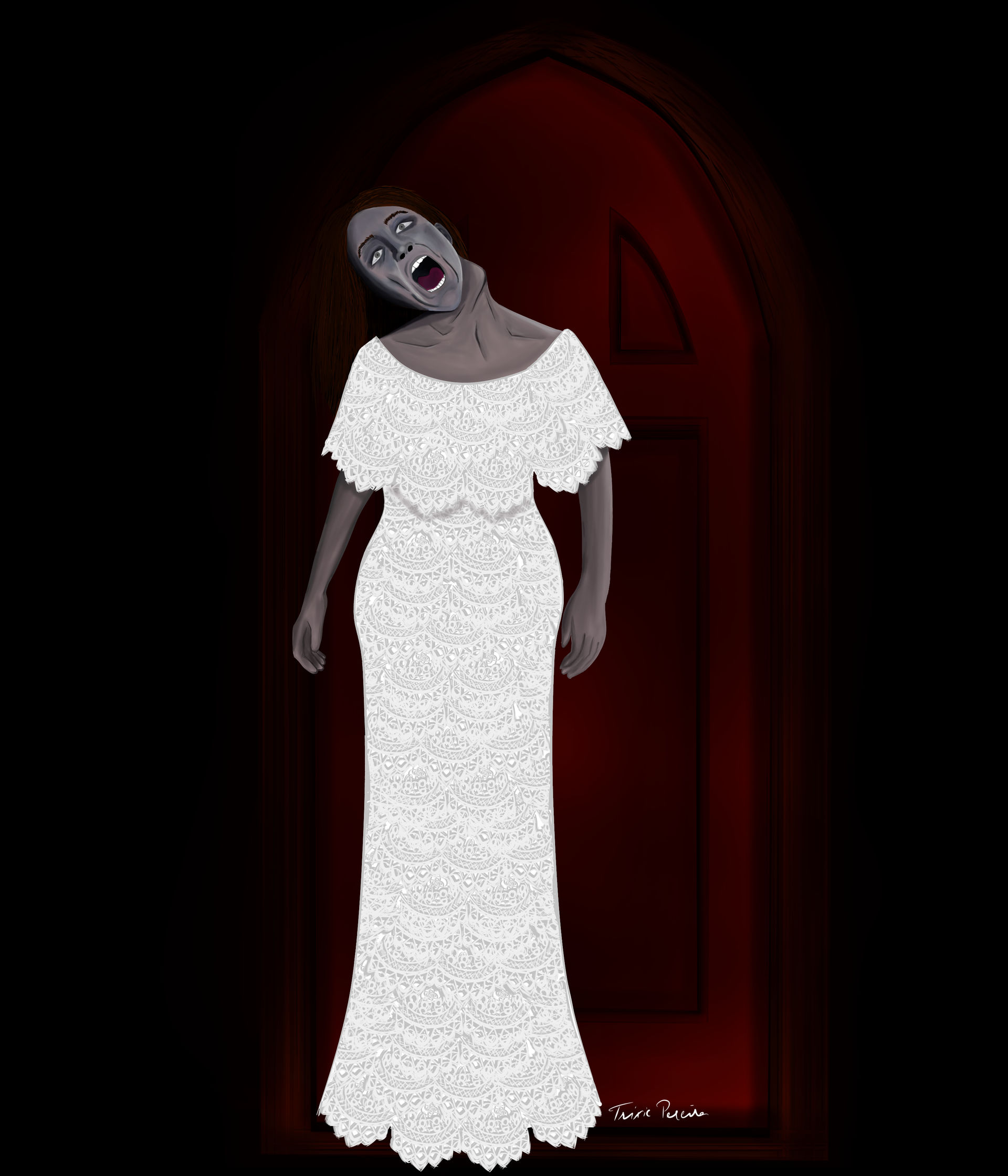 Bent Neck Lady Haunting Of Hill House By Pack69alpha On Deviantart