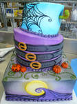 Tim Burton wedding cake