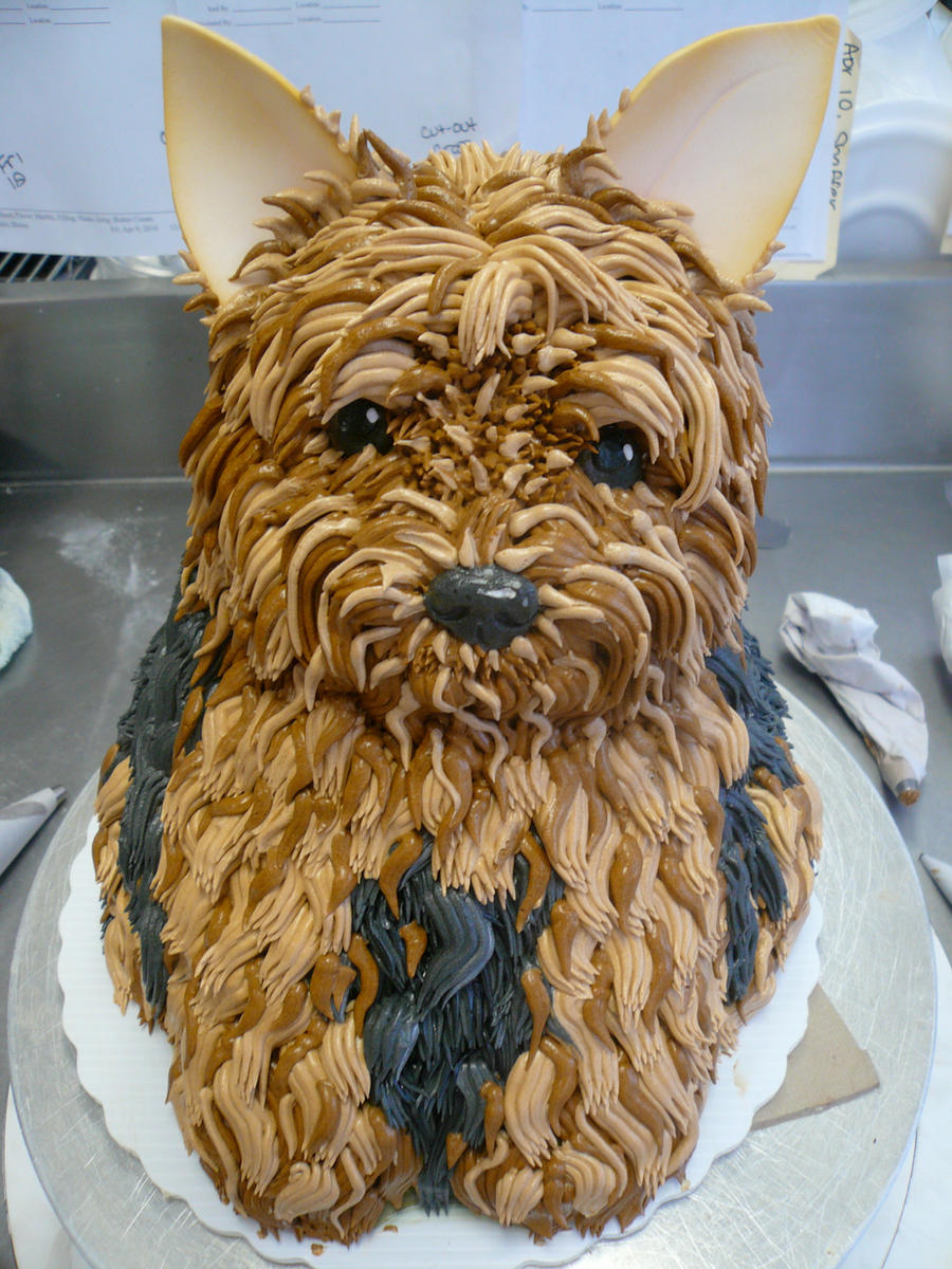 Yorkie Cake by keki-girl