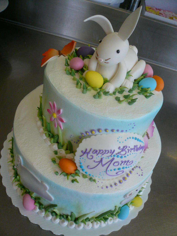 Rabbit Shaped Birthday Cake