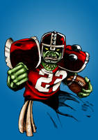 Blood Bowl Orc Blitzer by J0NATHAN
