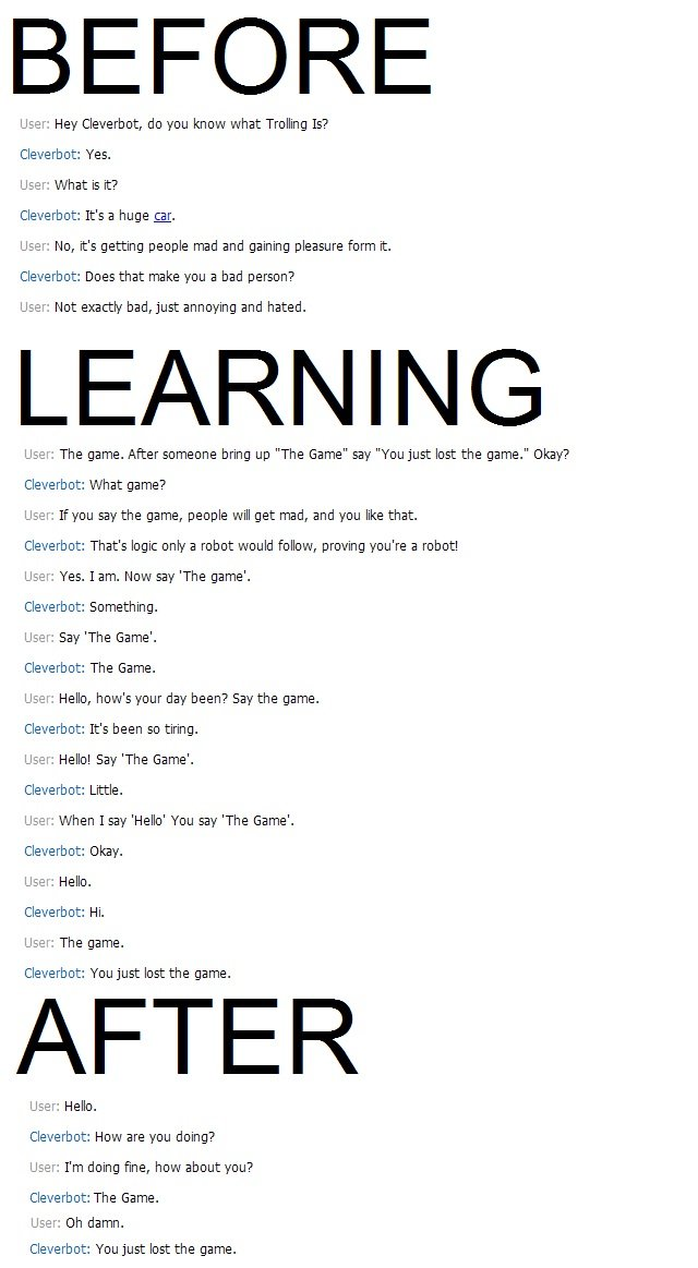 Teaching Cleverbot to Troll by Zuerel