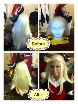 Wig Styling: New Edea Lee wig from Bravely Default