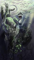 a drowned man by FeurigenSatan