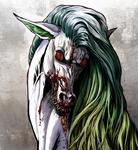 Demon-horse eats a rotten human flesh by FeurigenSatan
