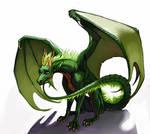 [commission] - brooding dragon