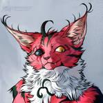 [commission] - devilish cat by FeurigenSatan