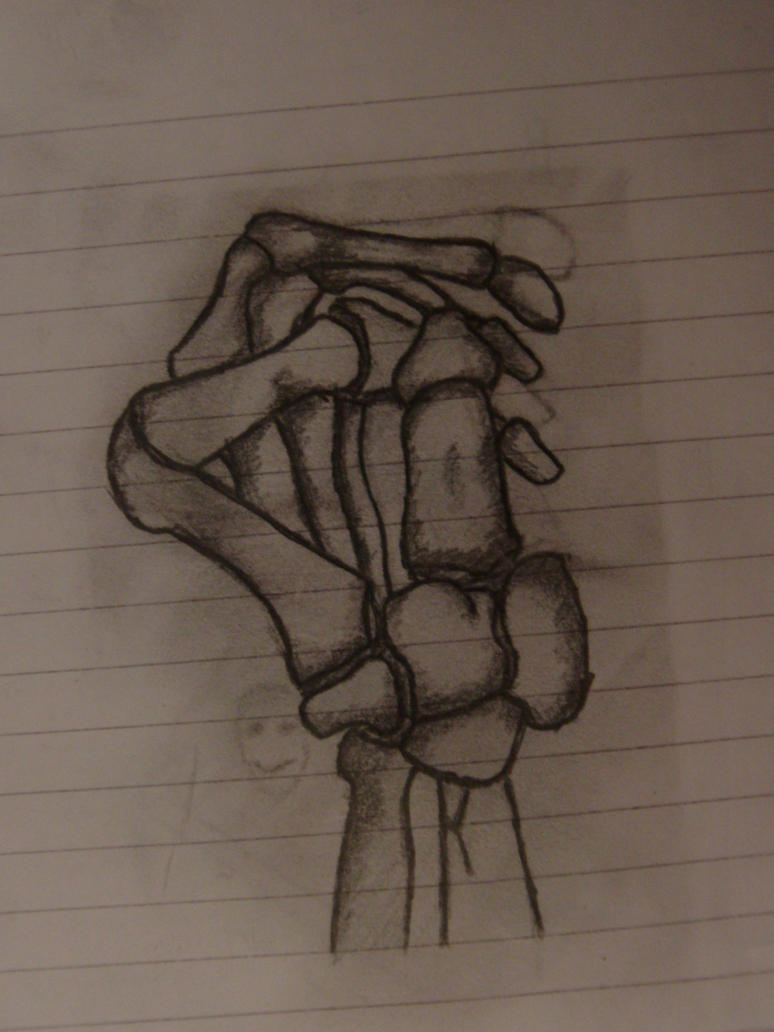 Skeleton hand fist