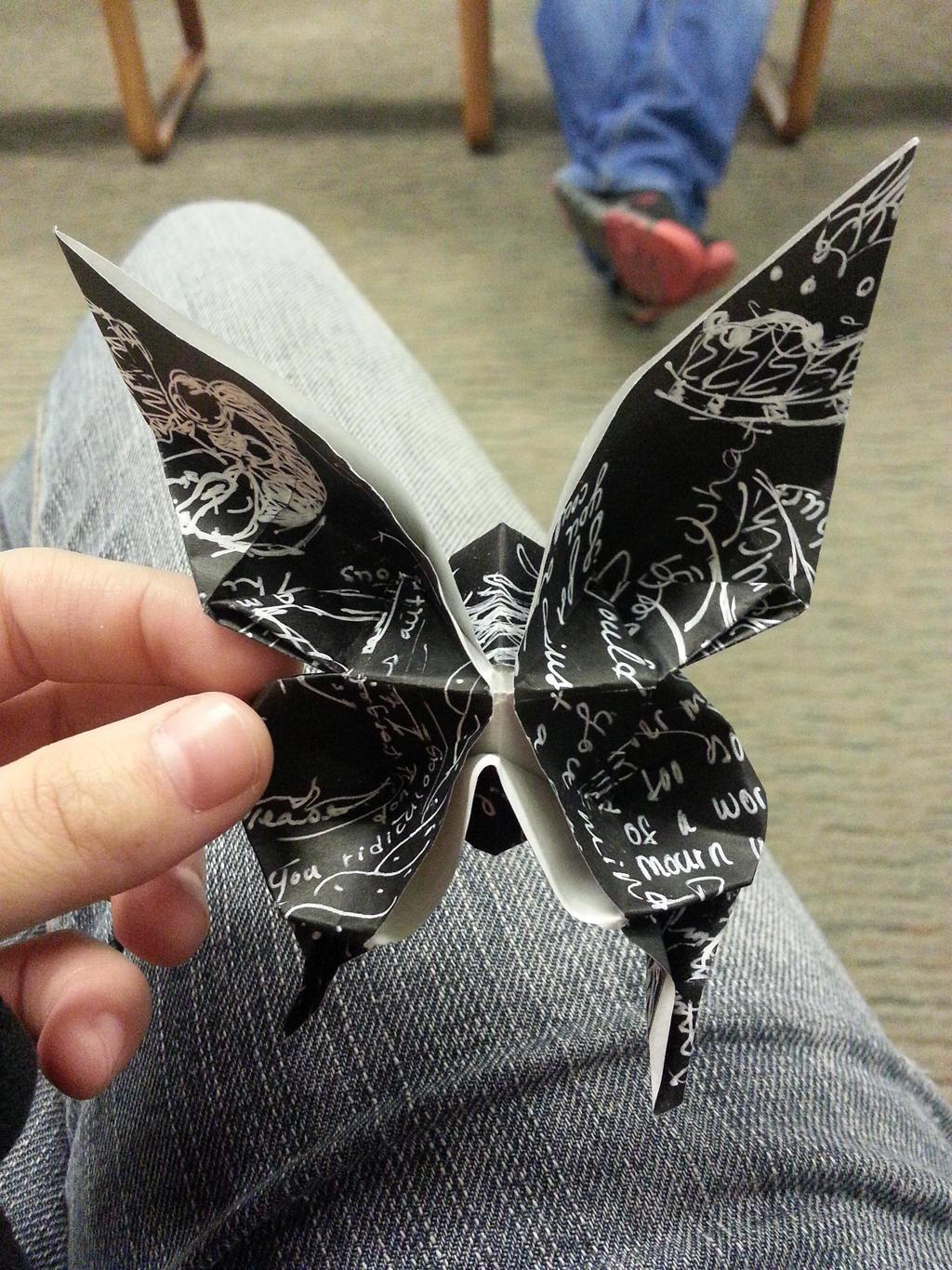 Origami Black Butterfly 1[1] by AgentTuxedoBird