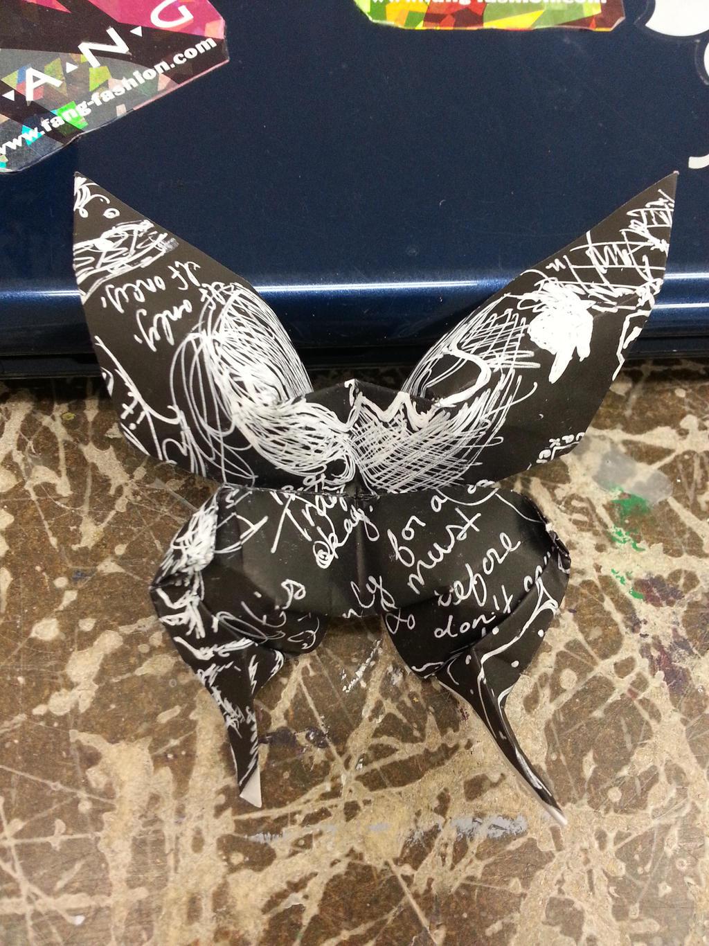 Origami Black Butterfly 2[1] by AgentTuxedoBird