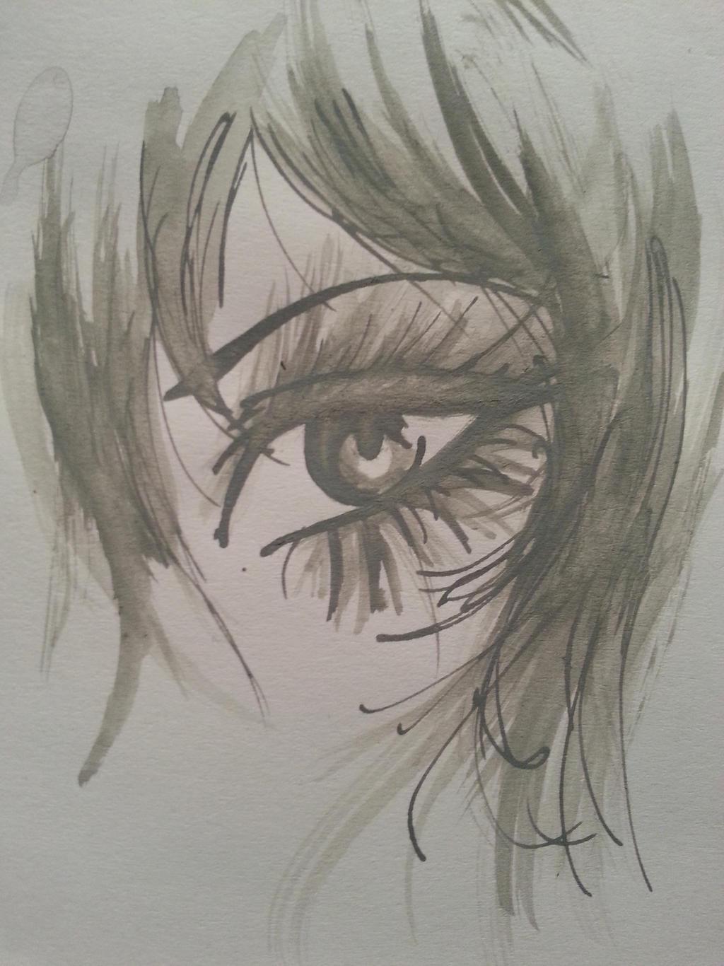 Silver Ink Eye 2[1] by AgentTuxedoBird