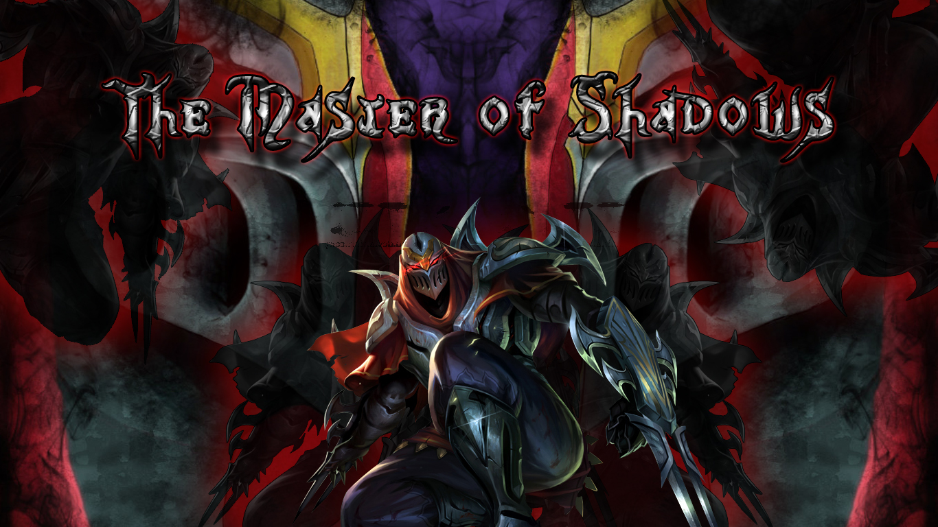 Zed, the Master of Shadows (Wallpaper) by TheOneTheOnlyAlastar on ...