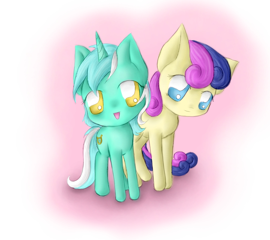 Lyra and Bon Bon by SpectralPony