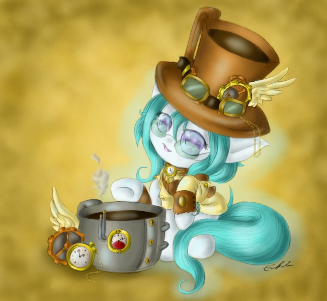 Steampunk Ghosty by SpectralPony