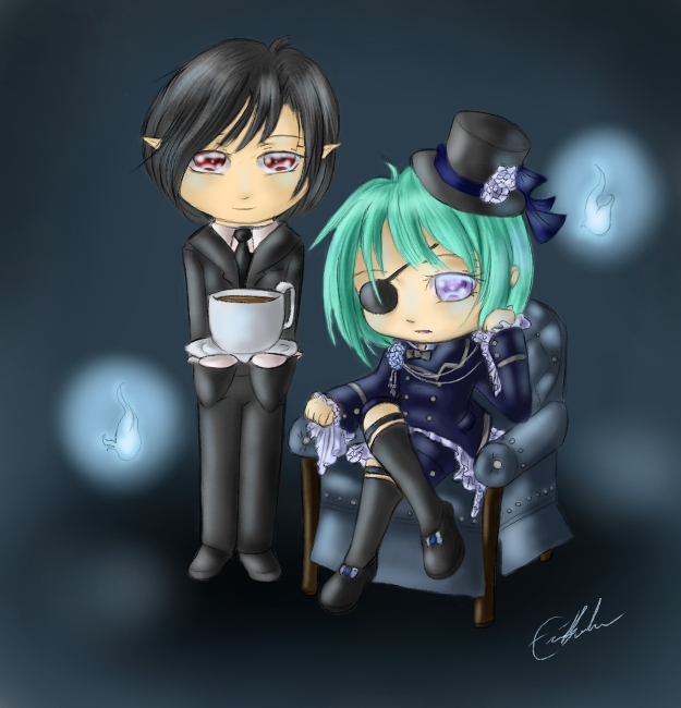 Ryn and Oki Cosplay - Ciel and Sebastian by SpectralPony