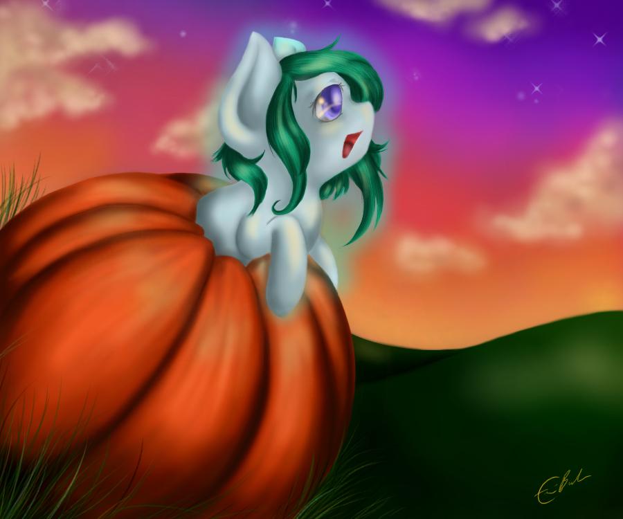 Oki's Pumpkin 2014 by SpectralPony