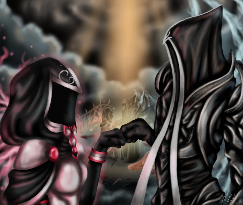 Diablo FistBump - A gift commission by SpectralPony