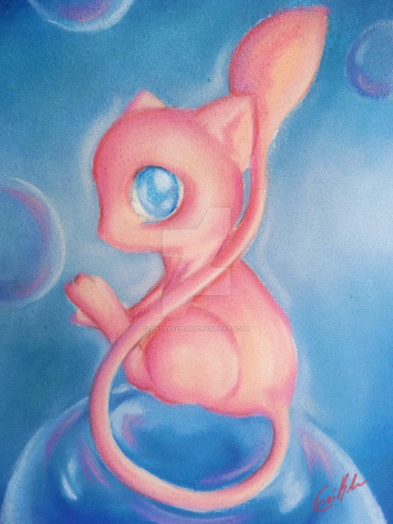 Mew - Traditional Chalk Art by SpectralPony