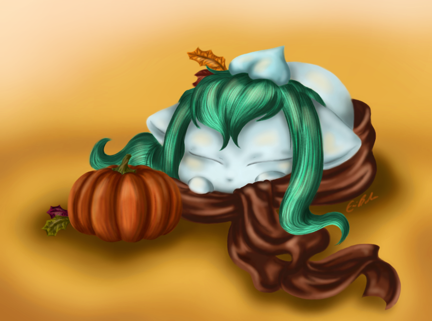 Fall Leaves and Snuggly Scarves by SpectralPony