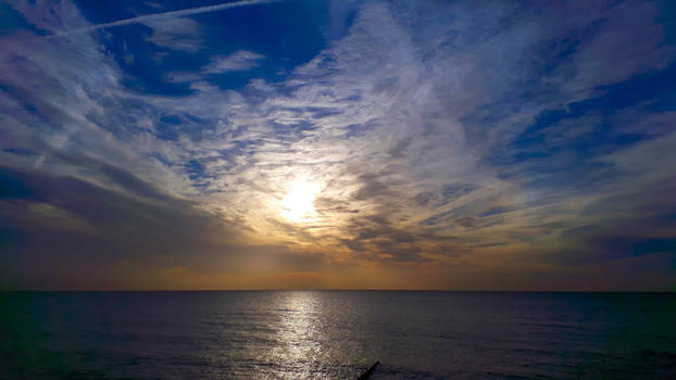 sunrise on a calm morning by beajaye1