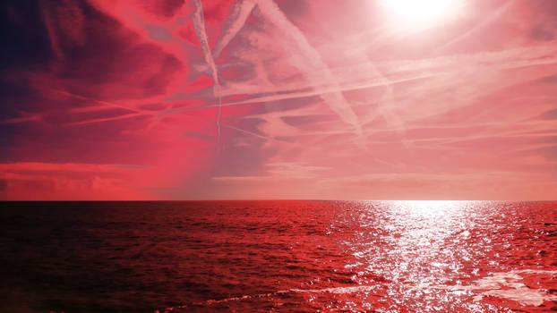 seascape in red by beajaye1