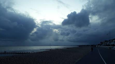 aldwick evening rain clouds