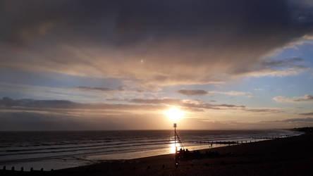 Aldwick sunset after the rain