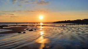 Sunset -5C at Aldwick beach