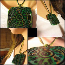 Polymer Pendant Green II by hintingthoughts
