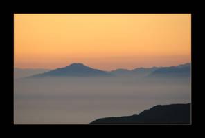 Hazy Sunset by canology