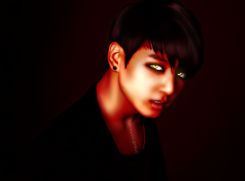 BTS Jungkook Edit By AnimewolfRPC On DeviantArt - Bts hairstyle 2014
