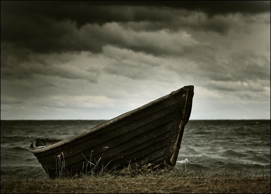 Etude with boat by Kamakaev