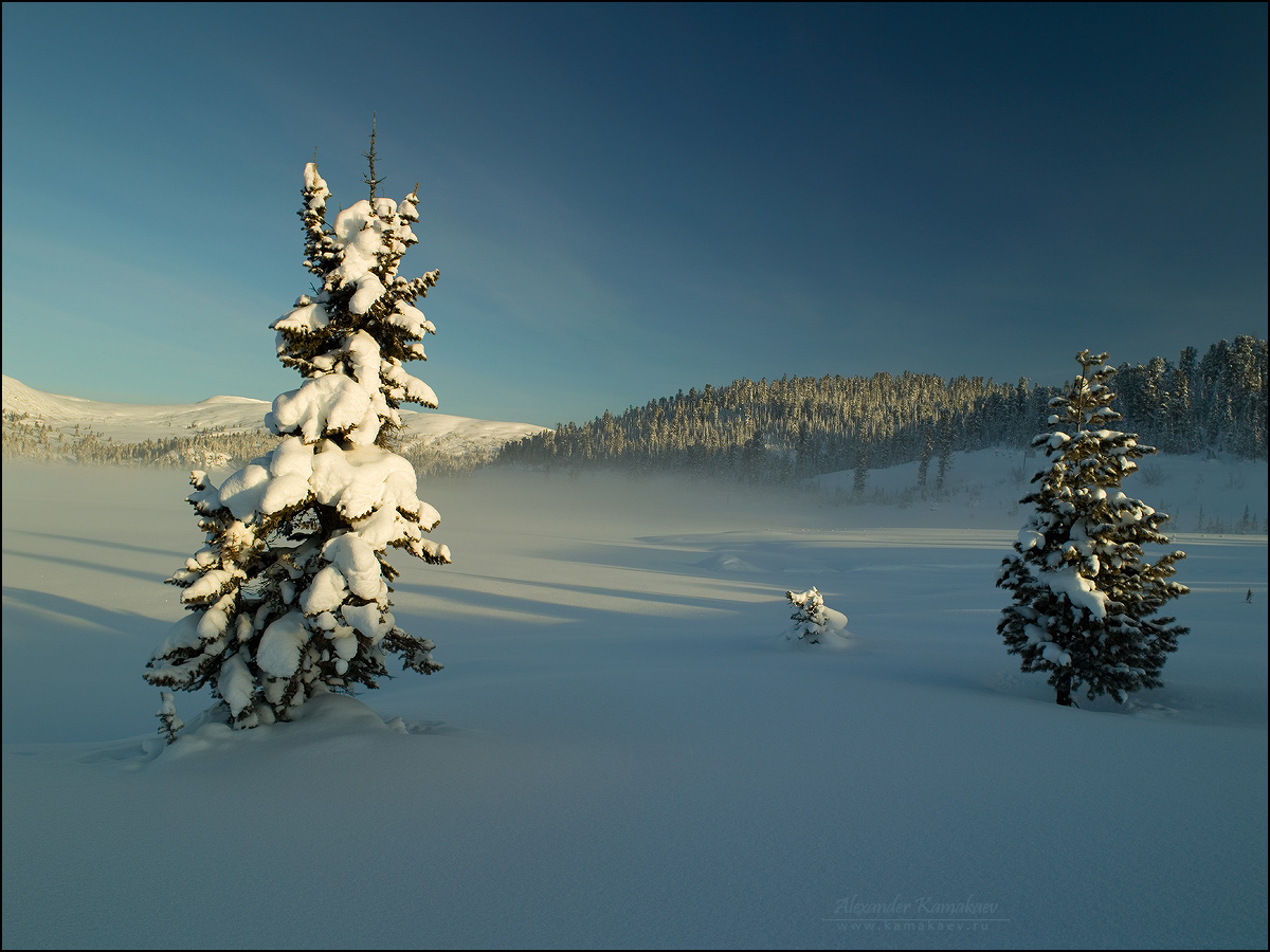 Morning on Lake Winter by Kamakaev