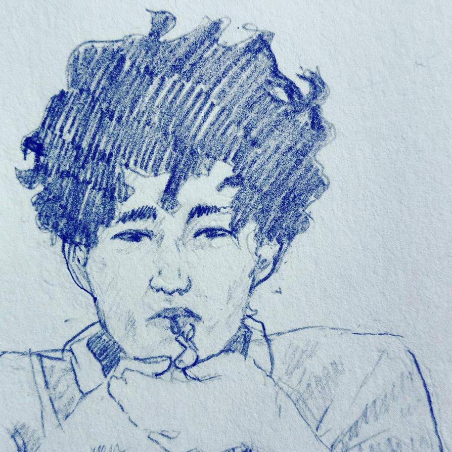 smoking boy  by Janprinceofnothing