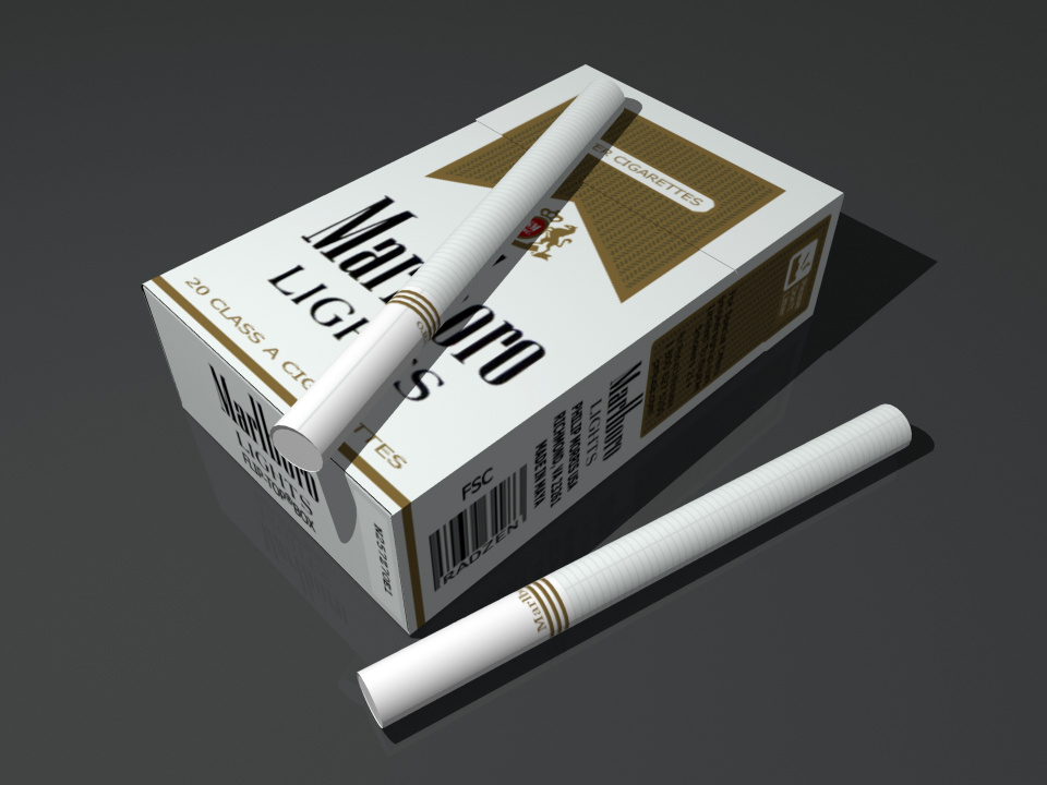 Marlboro Lights 3D model by radzen on DeviantArt