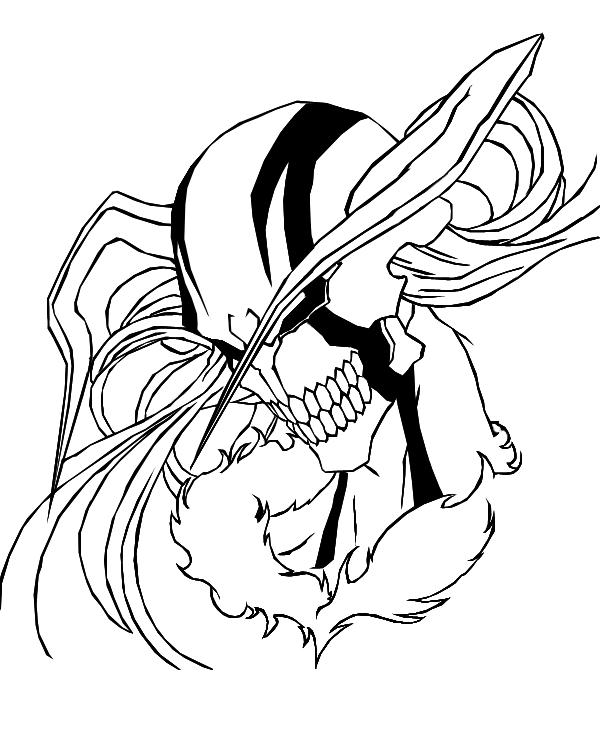 how to draw ichigo hollow form