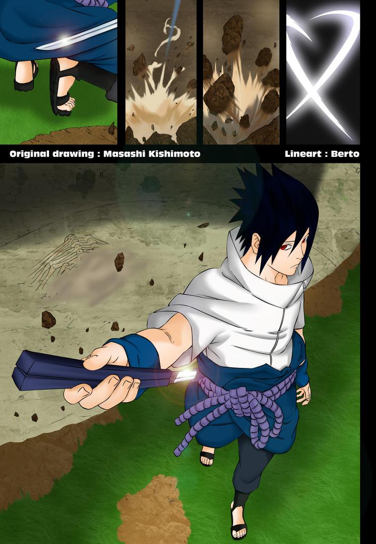 Sasuke enters the battlefield by DannyFCool