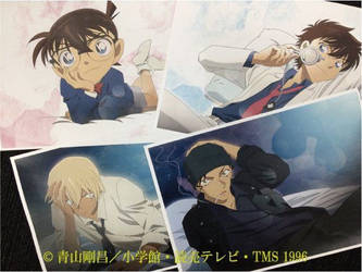 Kaito,Conan,Akai and bourbon