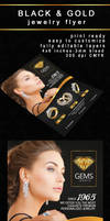 Black and Gold Jewelry Flyer by PrintDesign