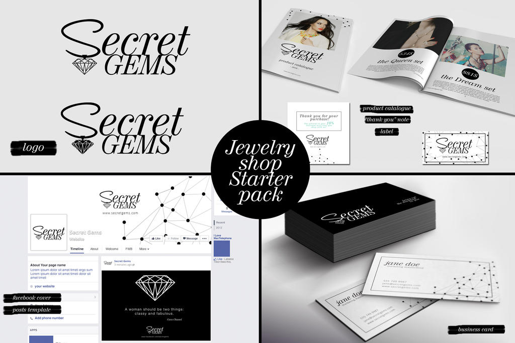 Jewelry shop starter pack by printdesign on deviantart jewelry shop starter pack by printdesign reheart Image collections