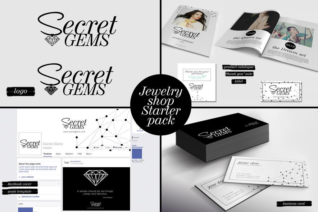 Jewelry shop Starter pack by PrintDesign on DeviantArt