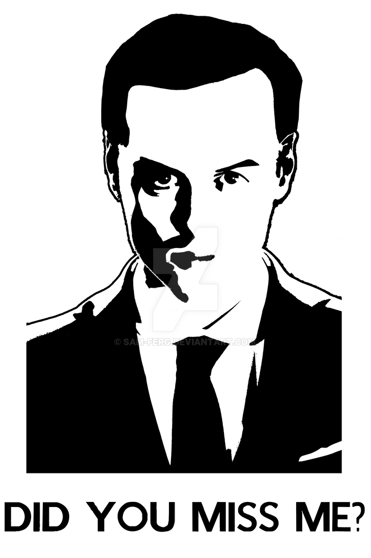 Moriarty Stencil - Did You Miss Me? by sam-ferg on DeviantArt