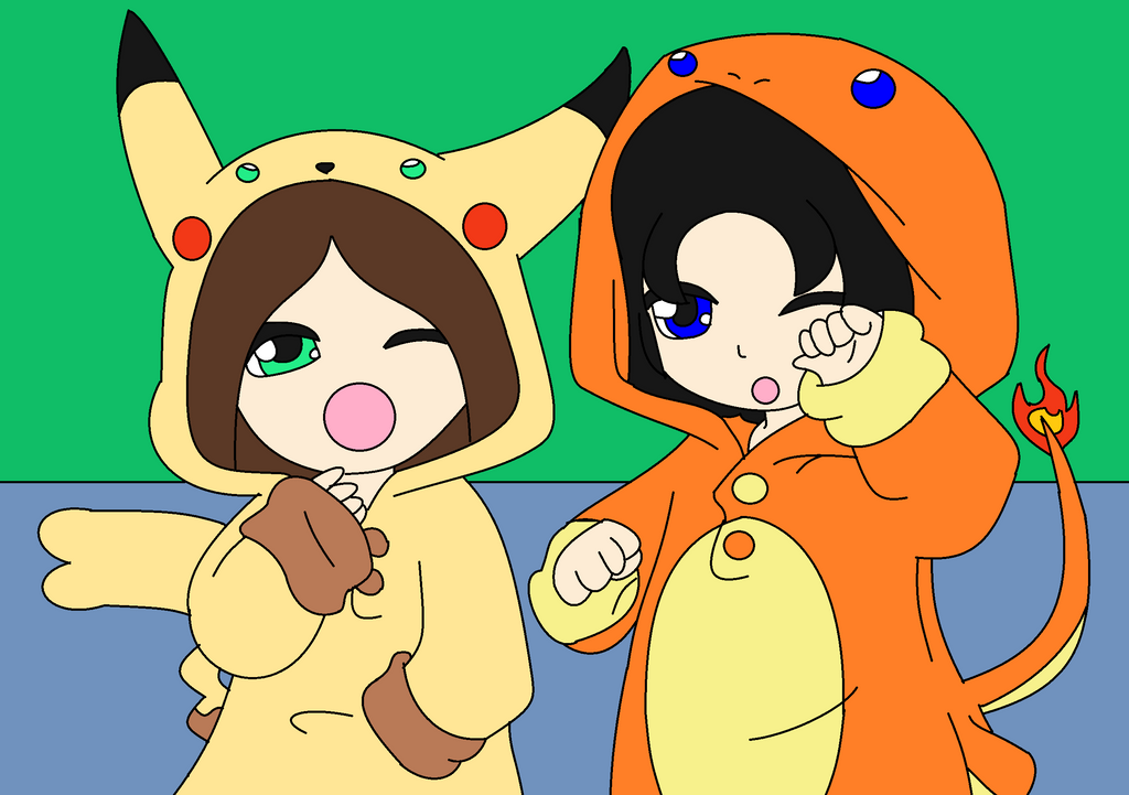 Mixy and Me in Pokemon PJ (Bas...