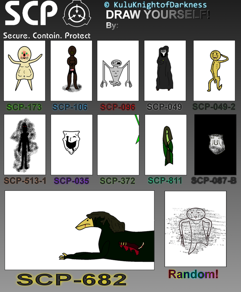 Draw Yourself as SCP Meme by Darththork99